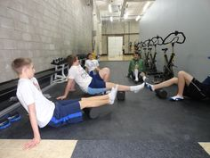 Teaching the importance of foam rolling to eliminate knots and trigger points