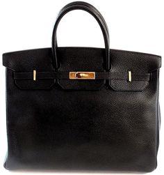 Authentic 40cm Hermes Black Togo Leather Gold Hardware Birkin Bag | eBay - $18,000