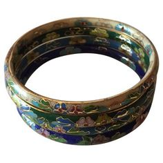 Check out this item at One Kings Lane! Cloisonné Enamel Bangles, S/4