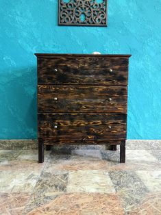 Rustic chest of drawers with metal knobs/Wooden chest of drawers/Chest of Drawer/hallway bedroom wood sewing box/wooden commode/roll box Chest Of Drawers, Rustic, Box, Metal, Handmade Gifts, Furniture, Vintage, Home Decor, Country Primitive