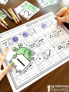 Today it's all about monsters. Back to school monsters that is. It's such a cute and fun back to school theme! I wanted to share a sneak pe. Preschool Math Games, Numbers Preschool, Numeracy Activities, Preschool Spanish, Learning Numbers, Learning Tools, Preschool Learning, Educational Activities, School Themes