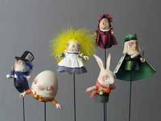 Alice in Wonderland puppets. Adorable!