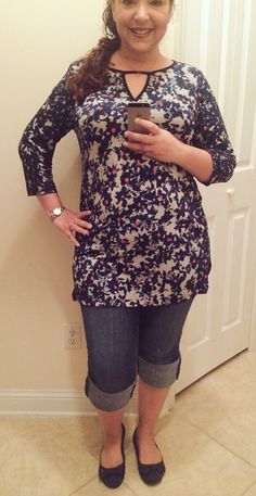 Taylor Dresses Keyhole Tunic in Twilight Multi