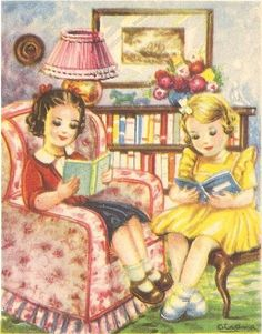 Love these girls reading