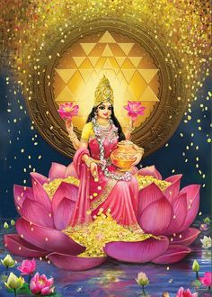 Gold Lakshmi Painting by Lila ShravaniYou can find Hindu art and more on our website.Gold Lakshmi Painting by Lila Shravani Indian Goddess, Goddess Art, Goddess Lakshmi, Diwali Goddess, Krishna Art, Hare Krishna, Indiana, Lakshmi Images, Lakshmi Photos