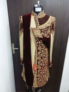 Indian Wedding Suits Men, Sherwani For Men Wedding, Mens Sherwani, Indian Wedding Outfits, Bridal Outfits, Designer Suits For Men, Designer Clothes For Men, Indian Groom Dress, Mens Ethnic Wear