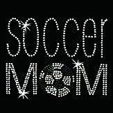 Hot Fix Motif Soccer Mom