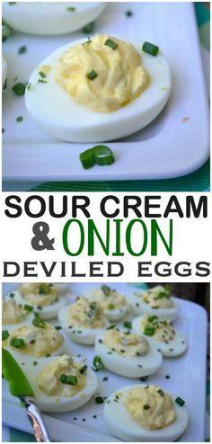Sour Cream and Onion Deviled Eggs
