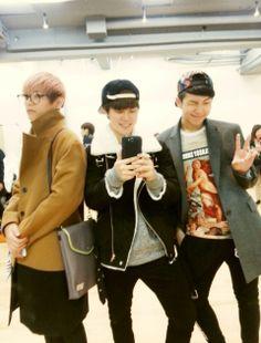 Taehyung Jimin and Rapmon<3<3<3