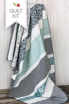 Boat House Quilt Kit Twin Size Quilt Kit by CottonBerryfabrics