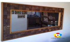 Moldura em madeira para espelho | Linda madeira | Elo7
