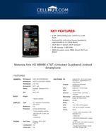 Motorola Atrix HD MB886 Unlocked -Features -Specification -Cellhut.com