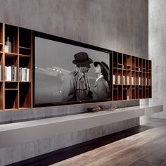 """NC SMARTWALL with the new XXL TV module for screens up to 85"""" is the ultimate solution for your #HomeEntertainment. Designed by #MassimoCastagna #acerbisinternational #acerbis #design #homedesign #furniture #modern #designlovers #style #homedecoration #decoration #interiordesign #interiors #luxury #luxuryliving #instadesign #photooftheday #italiandesign #madeinitaly #Smartwall"""