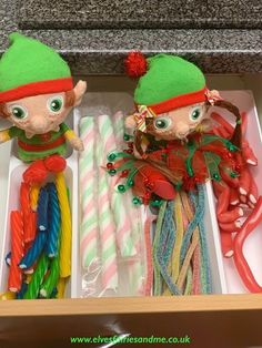 When we woke up our cutlery was all in the living room.  Upon further investigation we discovered the cutlery drawer had been replaced with sweets. Woodland Elf, Father Christmas, Magical Creatures, Family Traditions, Cutlery, Easter Bunny, Elf On The Shelf, Elves, Over The Years