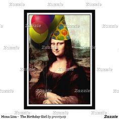 Mona Lisa - The Birthday Girl Custom Announcement by #spoofingthearts #gravityx9