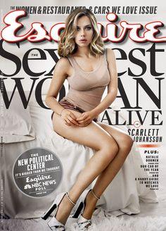Scarlett Johansson en la [PORTADA] de Esquire como la mujer más sexy del mundo por segunda vez