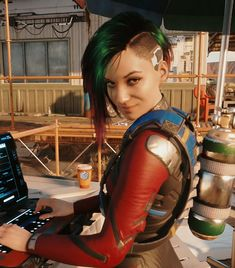 Cyberpunk Games, Cyberpunk Rpg, Cyberpunk Girl, Cyberpunk Aesthetic, Cyberpunk Character, Cyberpunk Fashion, Blue Green Hair, Science Fiction Art, Shadowrun