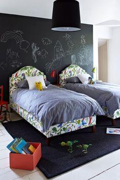 let your kids draw on the walls.....when they are made to be a giant chalkboard!