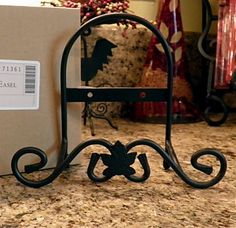 Wrought Iron Plate holder... use to holder Holiday Cards, Decorative plates, and treasured photos.