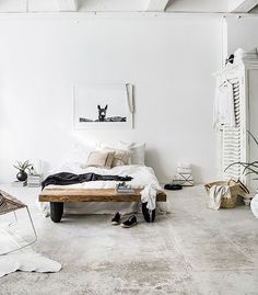 A white bedroom in New Zealand with a warm, boho summer vibe / Indie Home Collective.