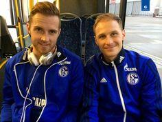 Ralf Fährmann und Benedikt Höwedes, Schalke 04.
