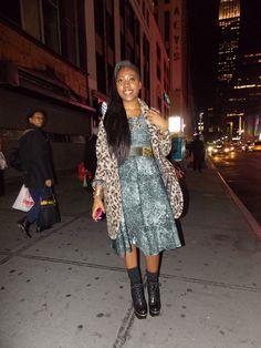 Streetstyle in New York • Leopard Chic • Photo: Alina Spiegel