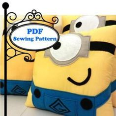 Minion Pillow | YouCanMakeThis.com Seems easy to assemble... I know you & FREE Minion Pillow Sewing Pattern. It\u0027s super easy try it out ... pillowsntoast.com