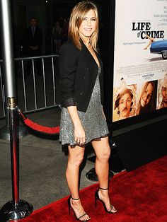 Star Tracks: Thursday, August 28, 2014   LIVING THE LIFE   Welcome back, Jen! Aniston is back in action Wednesday night, arriving in Hollywood for the premiere of her new film, Life of Crime.