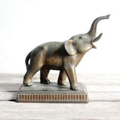 Elephant Figurine Brass, now featured on Fab.