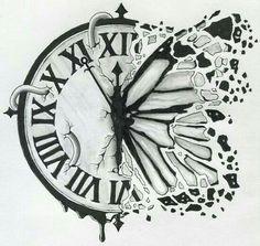 (Notitle) How I Successfuly Organized My Very Own Clock Tattoo Drawing Clock Drawings, Pencil Art Drawings, Cool Art Drawings, Art Drawings Sketches, Tattoo Drawings, Tatto Clock, Clock Tattoo Design, Tattoo Zeichnungen, Body Art Tattoos