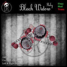 Draconic Kiss - Black Widow Ruby Bracelets; http://maps.secondlife.com/secondlife/Koreshan/132/136/24