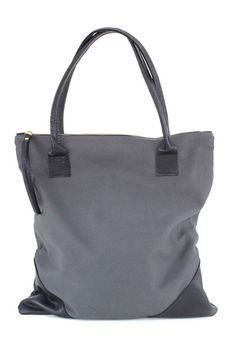 Large Leather + Canvas Tote - It's farmers market season! Bring this bag along to carry all your fresh veggies, fruits and breads.