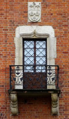Gothic window of the so-called Cathedral House at the Wawel Hill, made up from two 14th century buildings built in the time of Casimir the Great