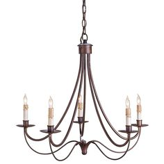 Bronze Cascade Chandelier - French Country