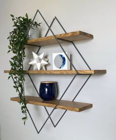 Find cheap affordable glass shelves styled for your home Wood Shelves, Glass Shelves, Floating Shelves, Metal Walls, Wood And Metal, Living Room Decor, Bedroom Decor, Shelf Design, Metal Wall Decor