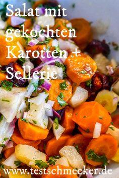 Salat mit gekochten Zutaten? Geht prima mit Karotten und Sellerie | www.testschmecker.de