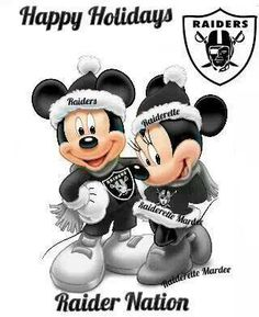 Raider Nation, Mickey Style!!  : )