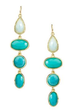 Multi-Shaped Resin Stone Dangle Earrings by Olivia Welles on @HauteLook