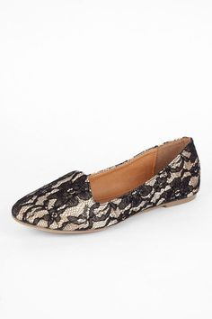 Lace patterned flats