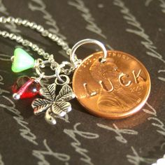 Cute idea for a SWAP- if you have or can borrow metal stamping dies and something to drill the hole through the penny.
