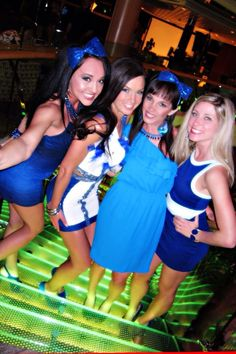 Bachelorette cruise! Blue night!