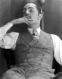 """ravinmaven: """" William Powell Love's Greatest Mistake (1927) """" Fantastic details where mens' style is concerned."""