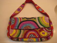 Christiana Vintage Beaded Bag made in India - Stunning! Great color and detail