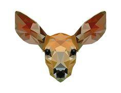 Low Poly Deer Print, Fawn, Bambi Art, DIGITAL DOWNLOAD, Printable Geometric Wall Art, Fawn Print, Woodland Nursery, Animal Poster, Forest