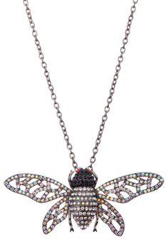 Meghan Fabulous Bumble Bee Pendant Necklace