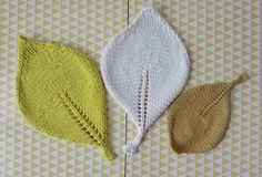 Tuto tricot: des feuilles dans la déco