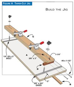 Woodworking Tools 4 Handy Tablesaw Jigs - Popular Woodworking Magazine - Get more out of your table saw with these four handy jigs. These simple jigs take advantage of the table saw's speed and accuracy without tempting you to perform risky operations. Jet Woodworking Tools, Woodworking For Kids, Woodworking Magazine, Woodworking Workbench, Woodworking Workshop, Popular Woodworking, Woodworking Crafts, Woodworking Jigsaw, Woodworking Techniques