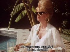 """You know the secret to keeping thin. 