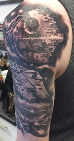 Star Wars Half Sleeve by Kane Scribble Ink Loughton UK