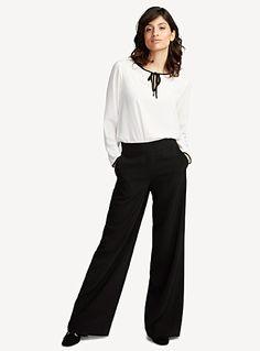 Wide-leg techno crepe pant | Contemporaine | Shop Women's Work Pants| Simons